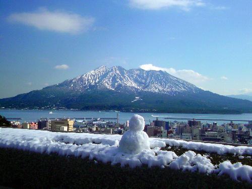 鹿児島も雪降りましたね。